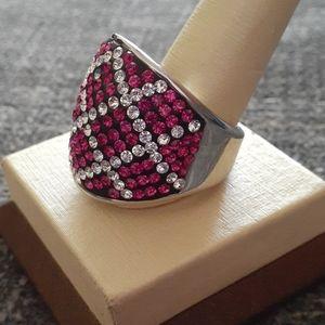 Chunky crystal ring